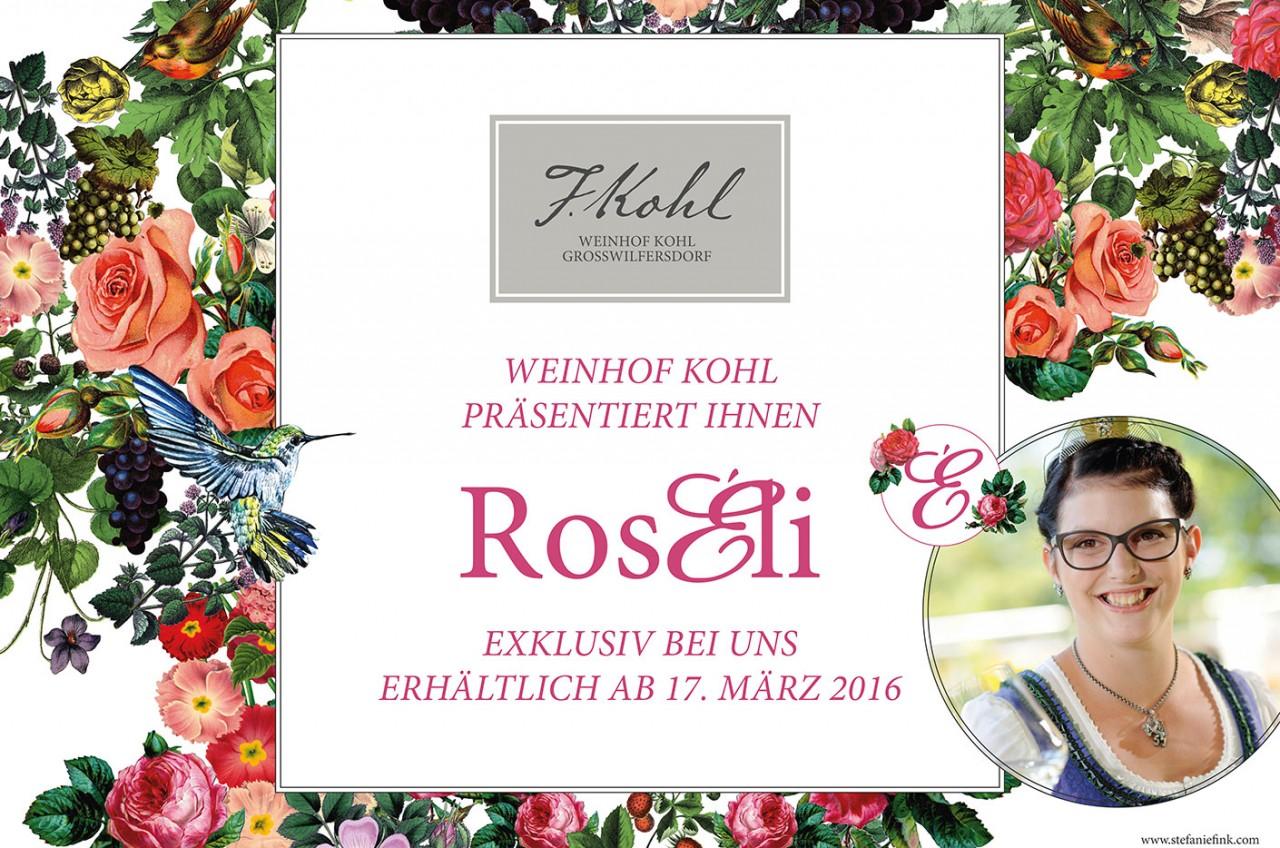 Plakat Präsentation Rosewein Roseli