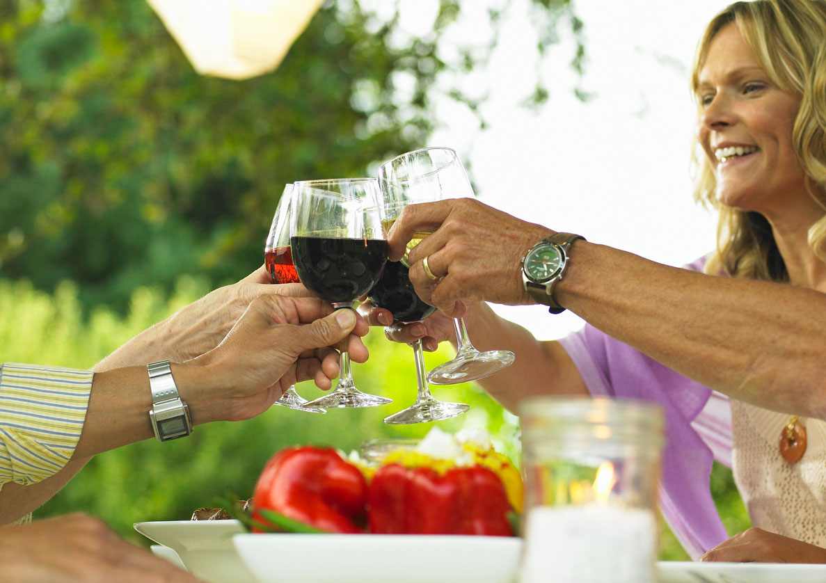 Letzte Grillabende mit Rotwein
